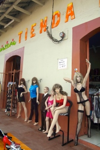 Just a regular clothing store; NOT a lingerie shop.