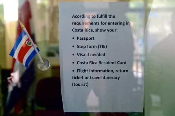 Costa Rica entry requirements.