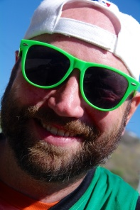 Justin rockin' the green shades!