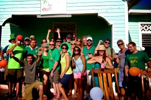 Group shot at Hostel del Mar