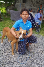 It was so great to see so many children in attendance seeking treatment for their animals.